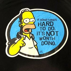 3/$20 If Something Is Hard... The Simpsons T-Shirt